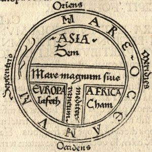 Earliest printed example of a classical T and O map (by Guntherus Ziner, Augsburg, 1472)